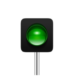 Green Traffic Light vector image