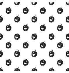 halloween pumkin pattern seamless vector image