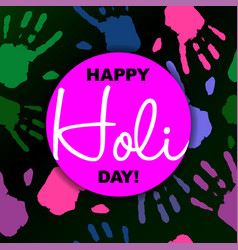 happy holi day card or background in trendy style vector image