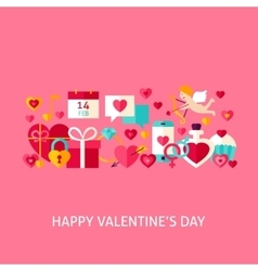 Happy Valentines Day Greeting Concept vector