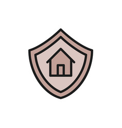 home protection shield with house property vector image