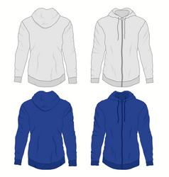 Hoody fashion sweatshirt template realistic vector