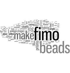 How to make fimo beads vector