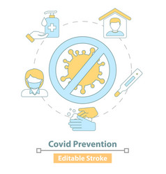 icon covid19 19 prevention measures vector image