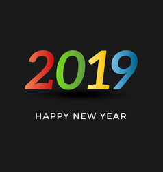 inscription 2019 and happy new year vector image