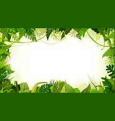 Jungle tropical landscape wide background vector