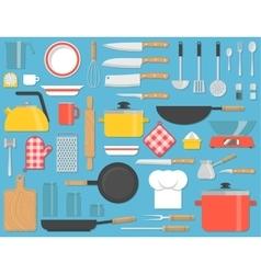 Kitchen tools set vector