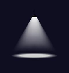 Lantern illuminates round scene image vector