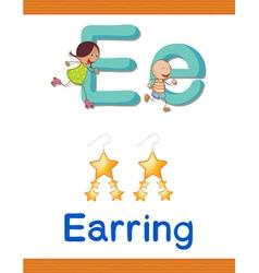 Learning alphabet e vector