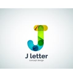 Letter j logo vector image