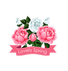 lovely spring creative poster vector image