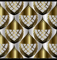 luxury ornamental abstract 3d seamless pattern vector image