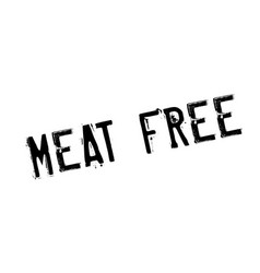 meat free rubber stamp vector image