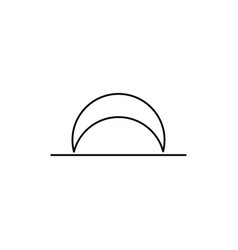 Moon set line icon vector