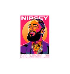 nipsey hussle vector image