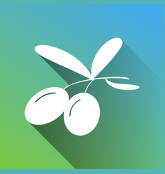 Olives sign white icon with gray vector