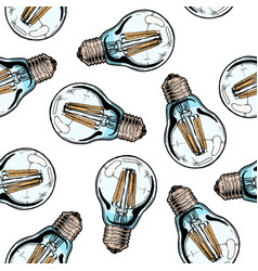 pattern with light bulb vector image