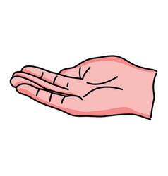 Person hand with finger and figures vector