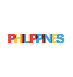 philippines phrase overlap color no transparency vector image