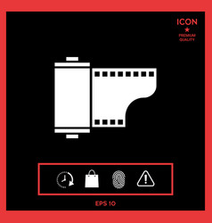 photographic film cassette icon vector image
