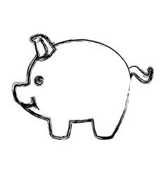 piggy safety money bank concept vector image