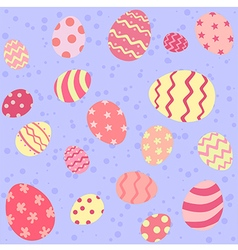 Pink Easter Egg Seamless Pattern vector image