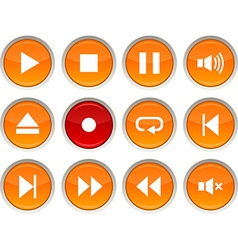 Player icons vector image