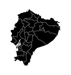 political map of ecuador vector image