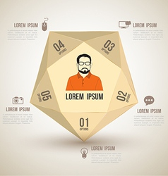 Polygon with icons number options vector image