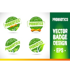 Probiotics Badge Logo vector image