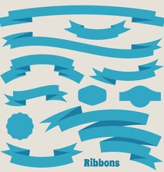 ribbon banners vector image