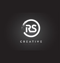 Rs circular letter logo with circle brush design vector