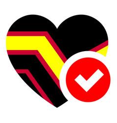 Rubber pride flag in heart shape vector
