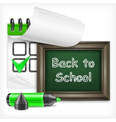 School blackboard and felt-tip pen vector image
