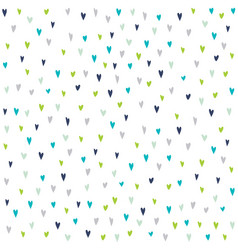 Seamless pattern with hand drawn colorful hearts vector