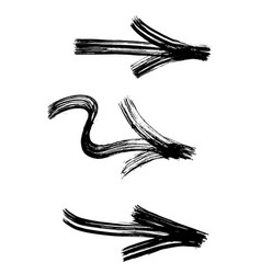 Set of graffiti arrows drawn by a brush vector