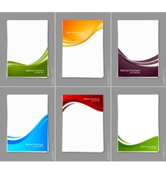 Set of wavy brochures vector image
