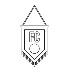 Soccer pennant icon outline style vector