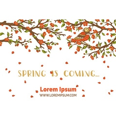 Spring is coming card vector image