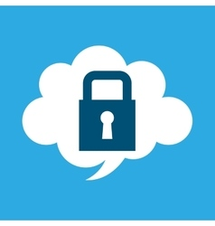 Start up business cloud protection graphic vector