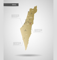 stylized israel map vector image