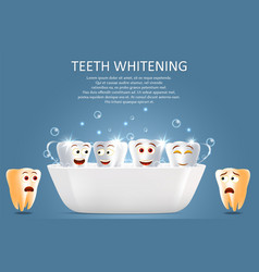 teeth whitening poster or banner template vector image