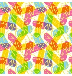 The pattern of sticks and triangles vector image