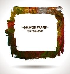 Trendy grunge frame vector image vector image
