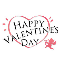 valentines day symbol or icon on white background vector image
