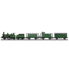 vintage green steam train vector image