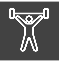 Weight Lifting Person vector image