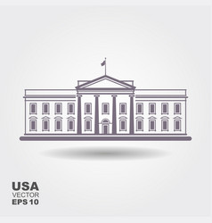 with white houseusa vector image