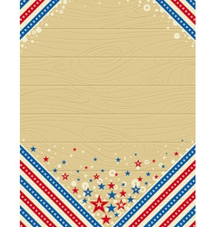 wooden usa background with stars vector image
