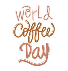 World coffee day celebration vector